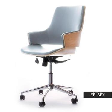 Fotel biurowy Oscar buk - szary obrotowy