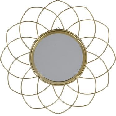 Lustro Flowe złote o średnicy 26 cm