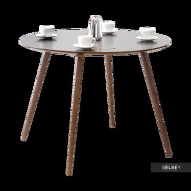 Stół Tilia dąb palony z okrągłym blatem