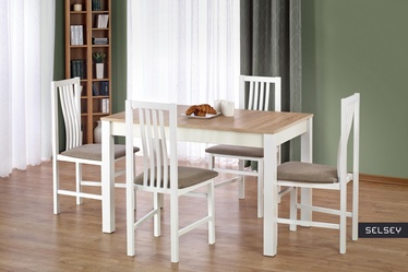 Stół Piago 120x68 cm biały - dąb sonoma