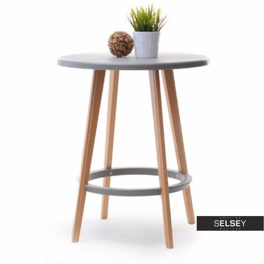 Stół Capri średnica 60 cm z tworzywa i drewna
