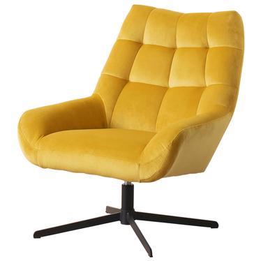 Fotel obrotowy Sherley żółty