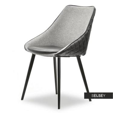 Krzesło Dali czarno-szare na smukłych nogach