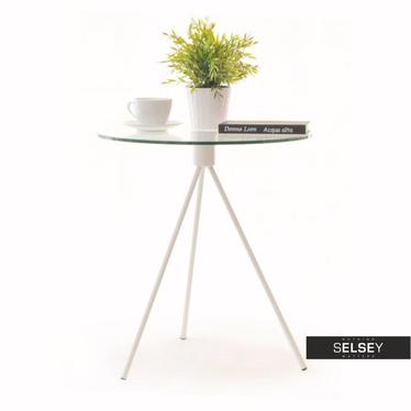 Stolik kawowy Tripod średnica 50 cm ze szklanym blatem