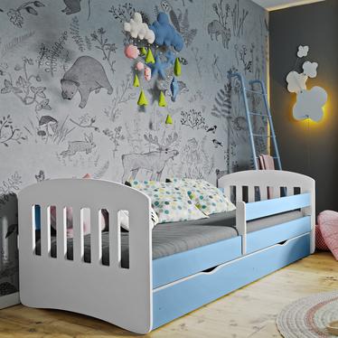 Łóżeczko dziecięce Pamma niebieskie