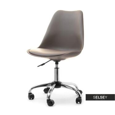Fotel biurowy Luis move brązowy na kółkach