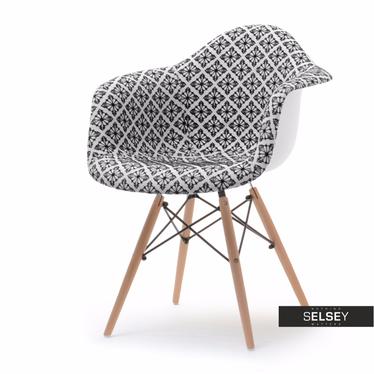 Krzesło MPA wood tap folk tapicerowane do jadalni