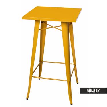 Stół barowy Paris 60x60 cm żółty