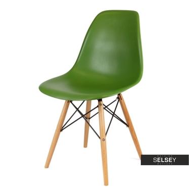Krzesło Basic ciemnozielone buk