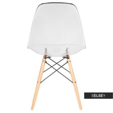 Krzesło Basic transparentne buk
