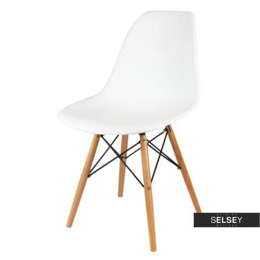 Krzesło Basic białe buk