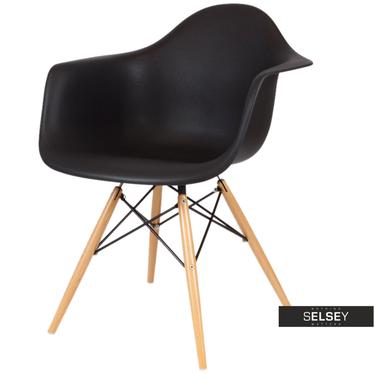 Krzesło Simple czarny-buk kubełkowe