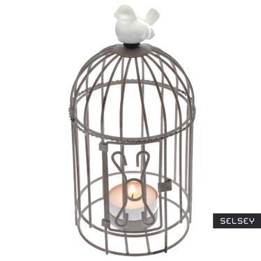 Świecznik mała ptasia klatka