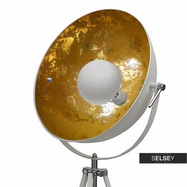 Lampa podłogowa Gravity biała ze złotym wnętrzem 170 cm