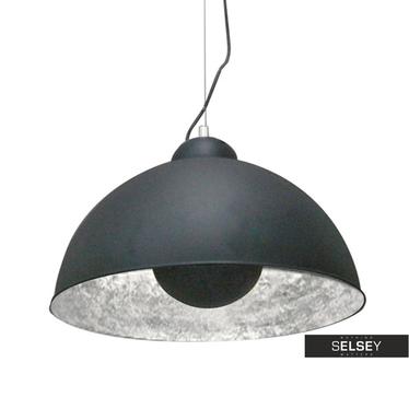 Lampa wisząca Gravity czarna ze srebrnym wnętrzem
