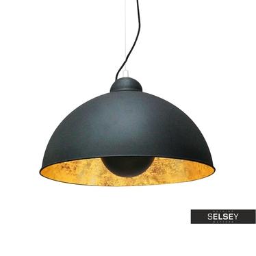 Lampa wisząca Gravity II czarna ze złotym wnętrzem