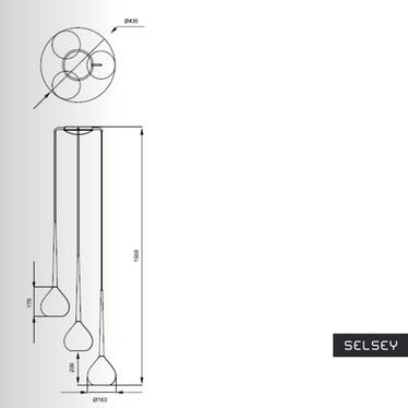 Lampa wisząca Lorens kaskada x3