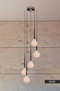 Lampa wisząca Lorens kaskada x5