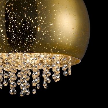 Lampa wisząca Tiffany średnica 40 cm złota