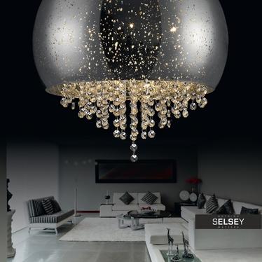 Plafon Tiffany średnica 50 cm srebrny
