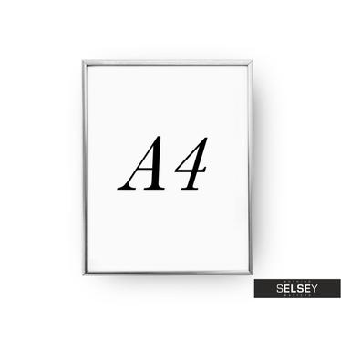 Rama A4 Srebrna