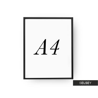 Rama A4 Czarna