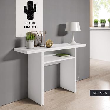 Włoska toaletka - konsola - stół Italia biały - do saloniku