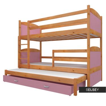 Łóżko Matek piętrowe z trzema posłaniami