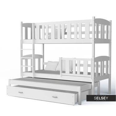 Łóżko Kaja piętrowe z trzema posłaniami