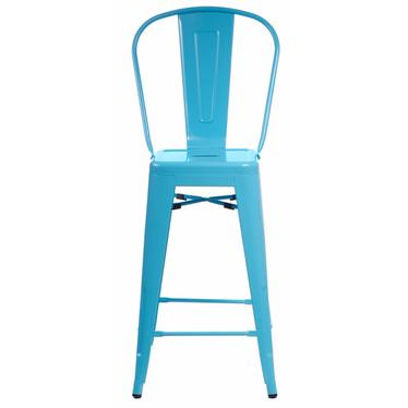 Hoker Paris Back niebieski inspirowany Tolix
