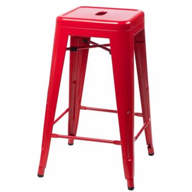 Hoker Paris 66cm czerwony inspirowany Tolix