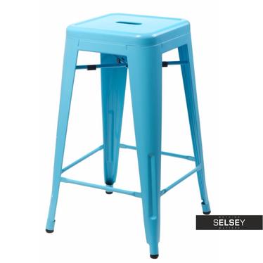 Hoker Paris 66cm niebieski inspirowany Tolix