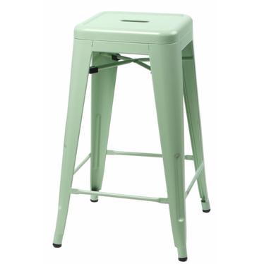Hoker Paris 66cm zielony inspirowany Tolix