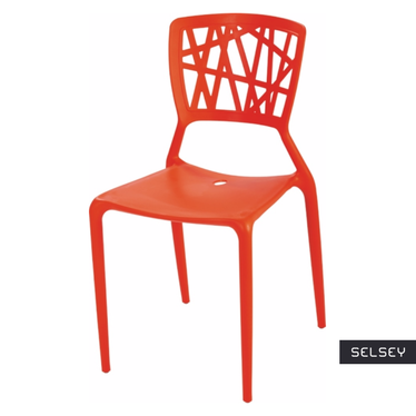Krzesło Bush czerwone