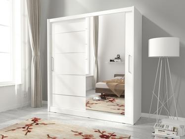 Szafa Maggio z lustrem z boku i aluminiowymi wstawkami