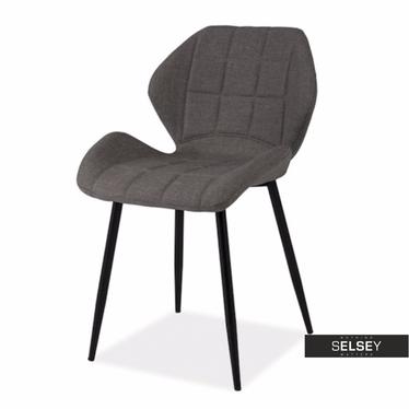Krzesło Collo szare podstawa prosta