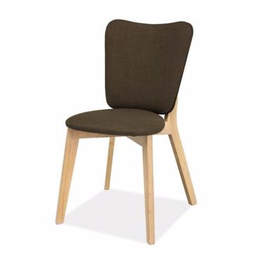 Krzesło Dakota dąb bielony/khaki