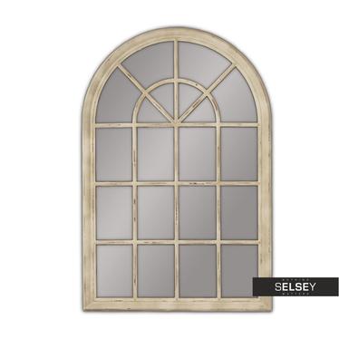 Lustro wiszące Window 74x104 kremowe