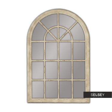 Lustro Window 74x104 cm kremowe