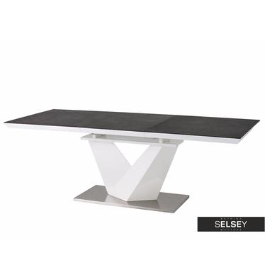 Stół Aramoko II 140(200)X85 cm szaro - biały