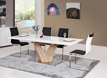 Stół rozkładany Aramoko 140-200x85 cm sonoma - biały