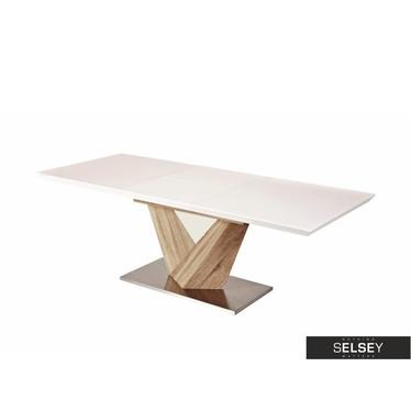 Stół Aramoko 140(200)X85 cm sonoma - biały