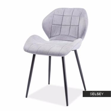 Krzesło Collo jasnoszare podstawa prosta