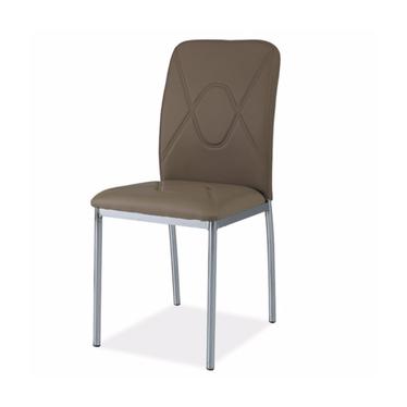 Krzesło Vermont ciemny beż/chrom