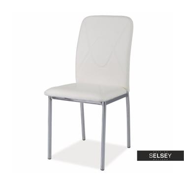 Krzesło Vermont biały/chrom