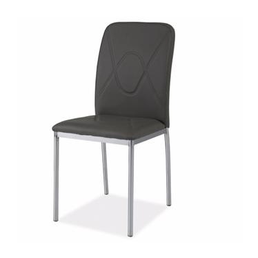 Krzesło Vermont szare na błyszczącej podstawie
