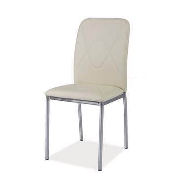 Krzesło Vermont kremowy/chrom