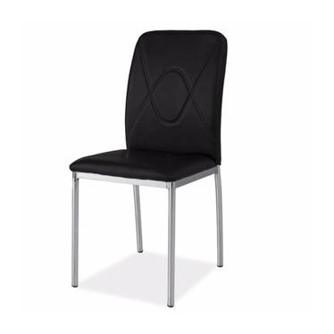 Krzesło Vermont czarny/chrom