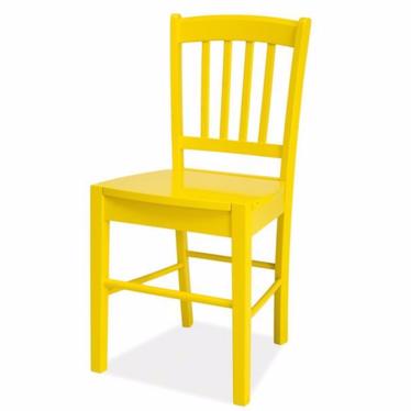 Krzesło Bergen żółte