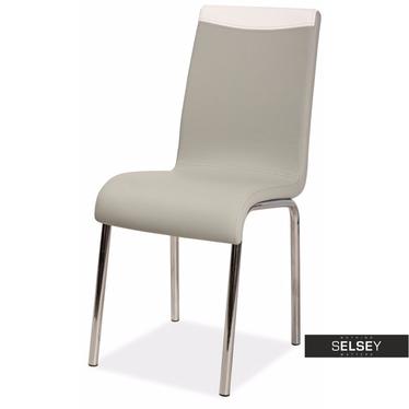 Krzesło Varberg szaro - białe